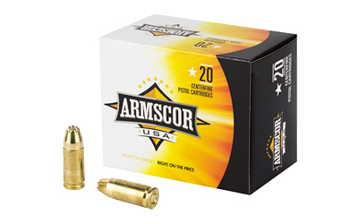ARMSCOR 9MM 124GR JHP 20/500 20 ROUND BOX