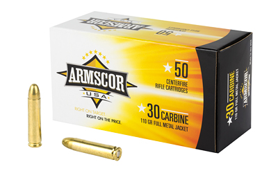 ARMSCOR 30CARB 110GR FMJ 50/1000 50 ROUND BOX