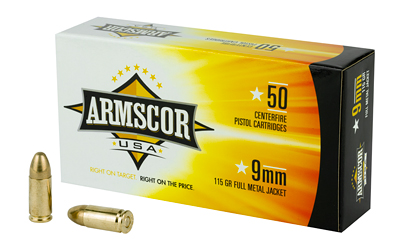 ARMSCOR 9MM 115GR FMJ 50/1000 50 ROUND BOX