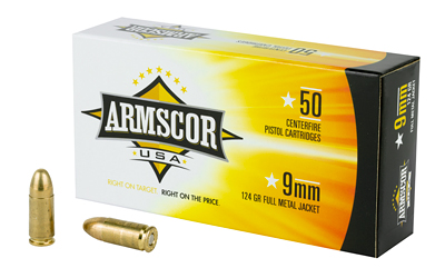 ARMSCOR 9MM 124GR FMJ 50/1000 50 ROUND BOX