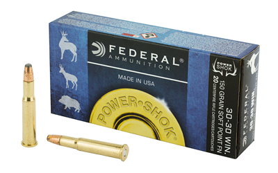 FEDERAL POWERSHOK 3030WN 150 GRAIN SP FN 20/200 AMMUNITION