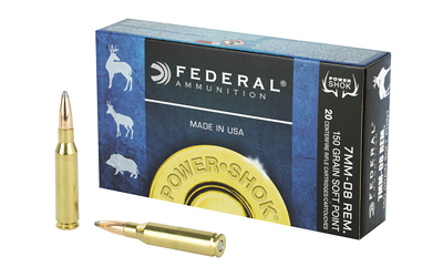 FEDERAL POWERSHOK 7MM08 150 GRAIN SP 20/200 AMMUNITION