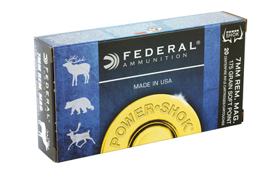 FEDERAL POWERSHOK 7MMREM 175 GRAIN SP 20/200 AMMUNITION