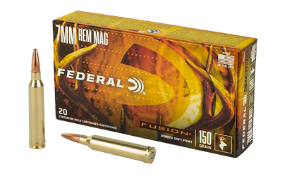 FEDERAL FUSION 7MM REM 150GR 20/200 AMMUNITION
