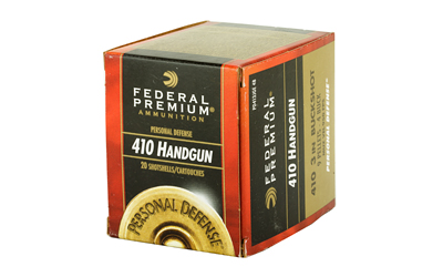 "FEDERAL PREMIUM PERSONAL DEFENSE 410GA 3"" 4 BUCK 20/200"