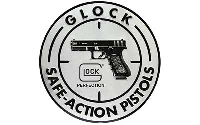 GLOCK OEM SAFE ACTION ALUMINUM SIGN