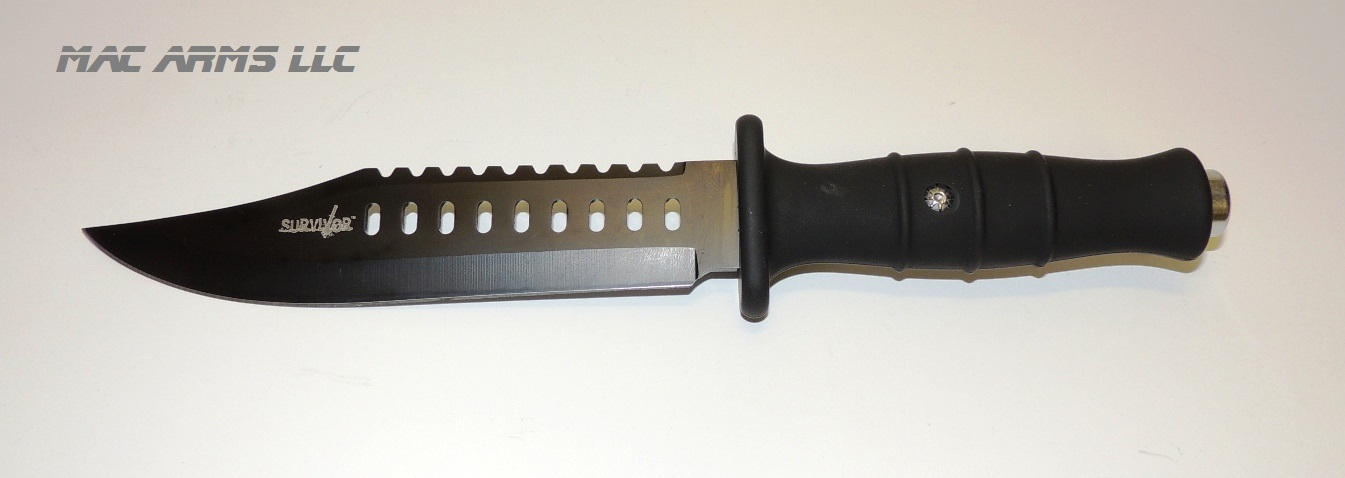 "Survival Black Tactical Knife 12"" Length"