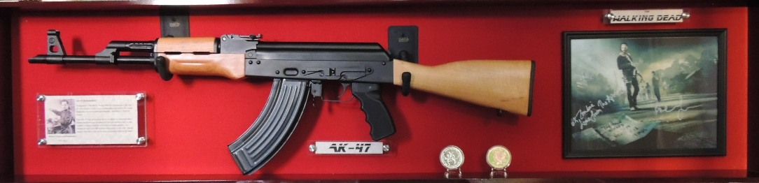The Walking Dead AK47 Rifle Custom Display Case