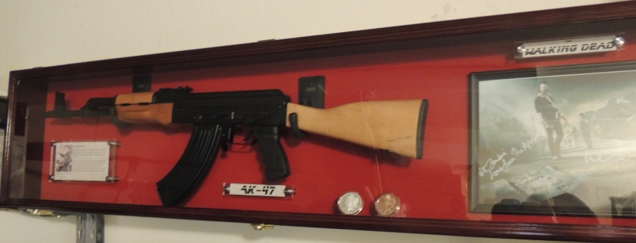 Custom Designed The Walking Dead AK47 Rifle Display Case