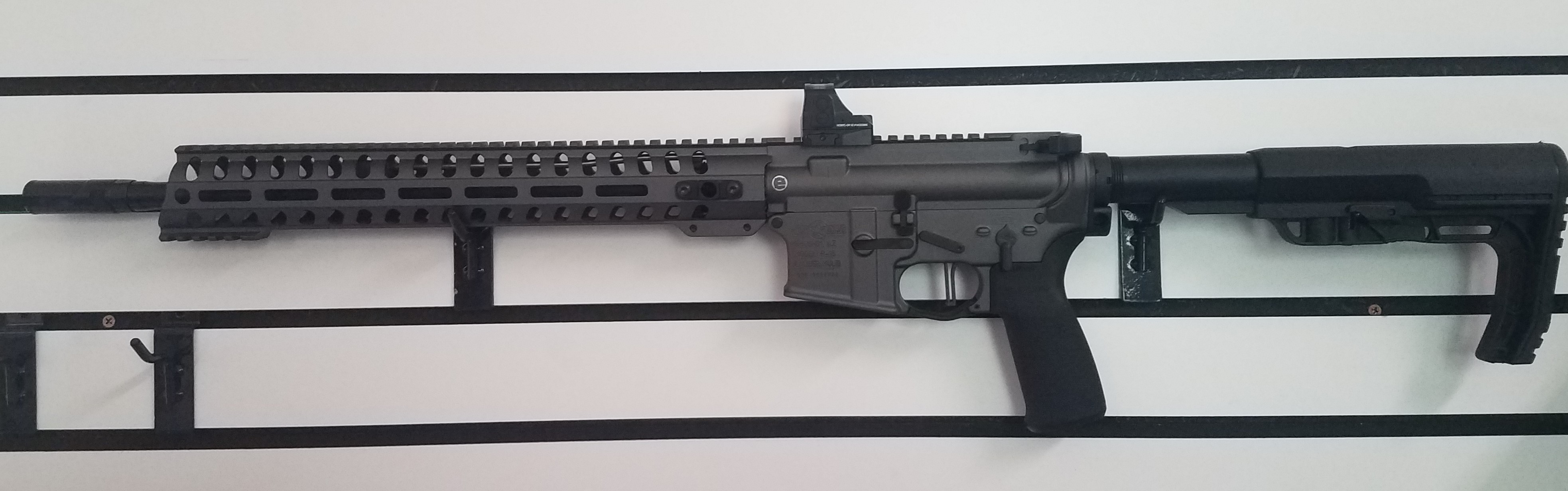 USED POF Minuteman 556 AR15 Tungsten Finish 30RD/W Holosun Sight